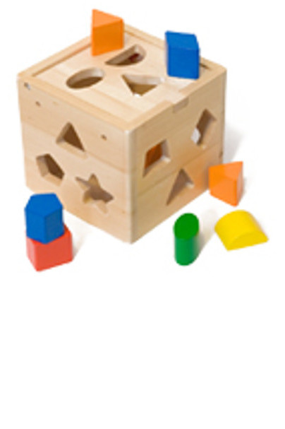 A Cube with holes of various shapes.