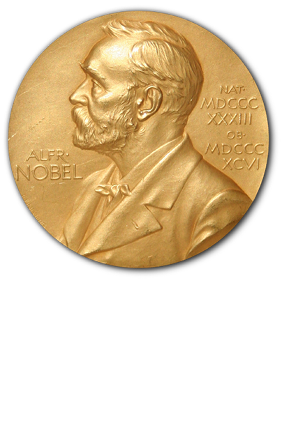 The current Nobel prize medal weighs approximately 175 grams and is composed of 18 carat green gold with a 24 carat gold plating.